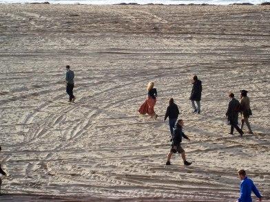 walking down beach