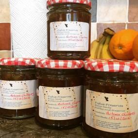 Autumn chutney jars