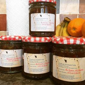 Autumn chutney jars