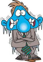 freezing person