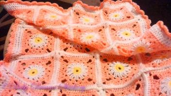 Glitter flower blanket