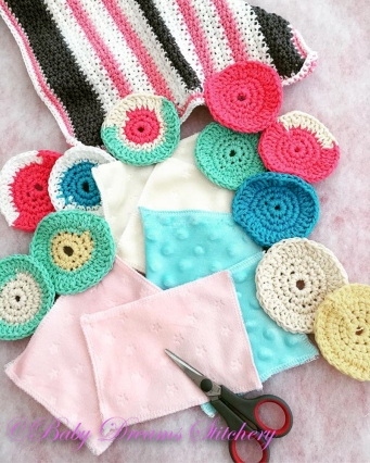 washcloth and scrubbies